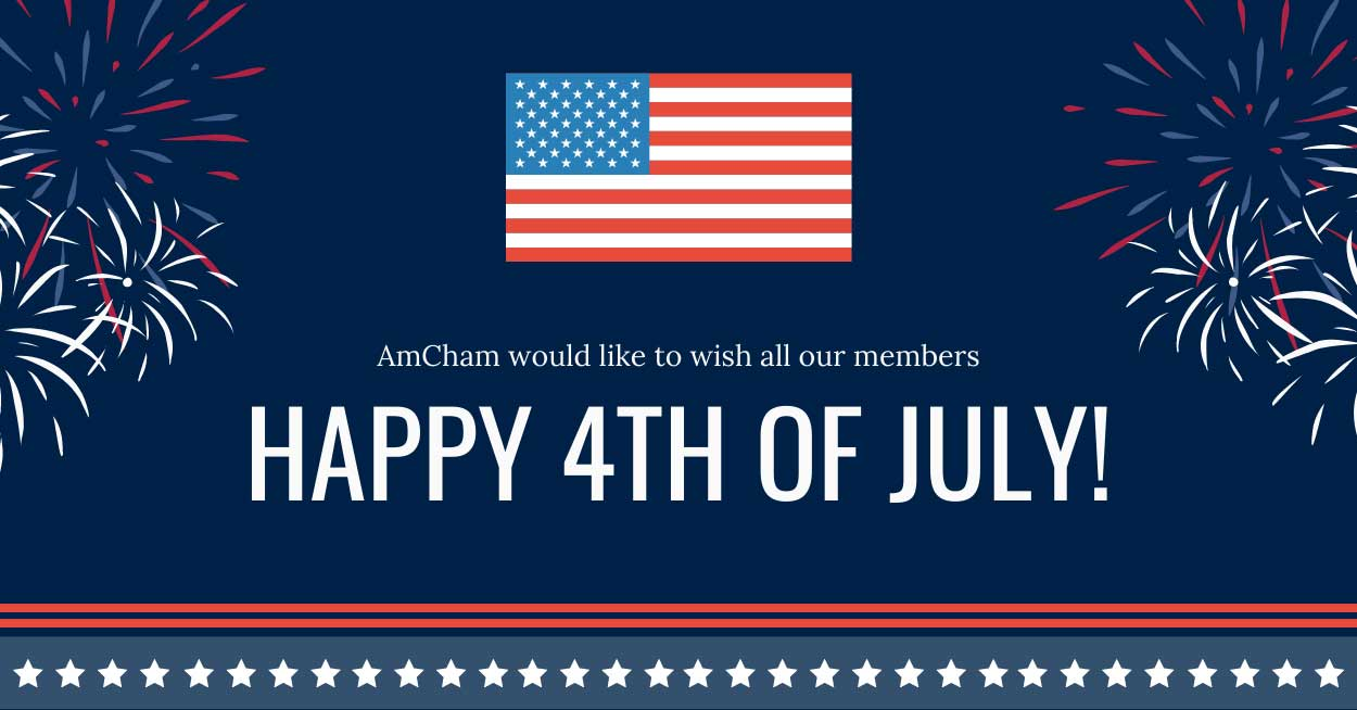 Amcham wishes all a happy 4th of July for 2020